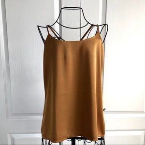 Vintage Gold Silky Camisole Tank Top Size Large